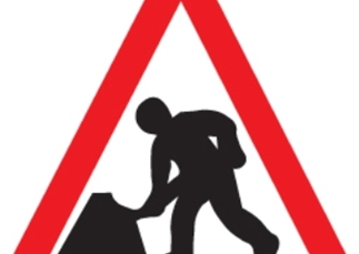 Work to repair the A421 at Castle Mill Bridge, near Bedford